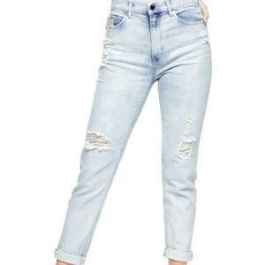 Salt Water Wash Girlfriend Jeans